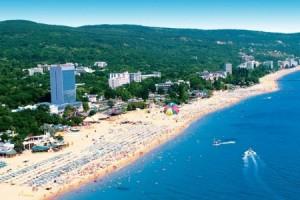 Болгария. Вид на пляж